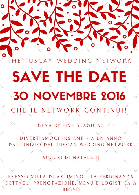 30 Novembre Cena Network – Save the date